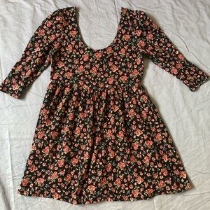 Forever 21 plus size floral fit and flare dress